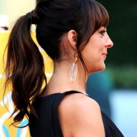 Side View of Loose Ponytail - Lindsay Sloane Loose Ponytail