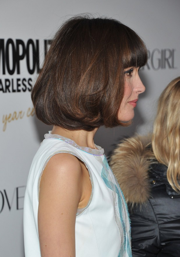 Side view of pageboy hairstyle