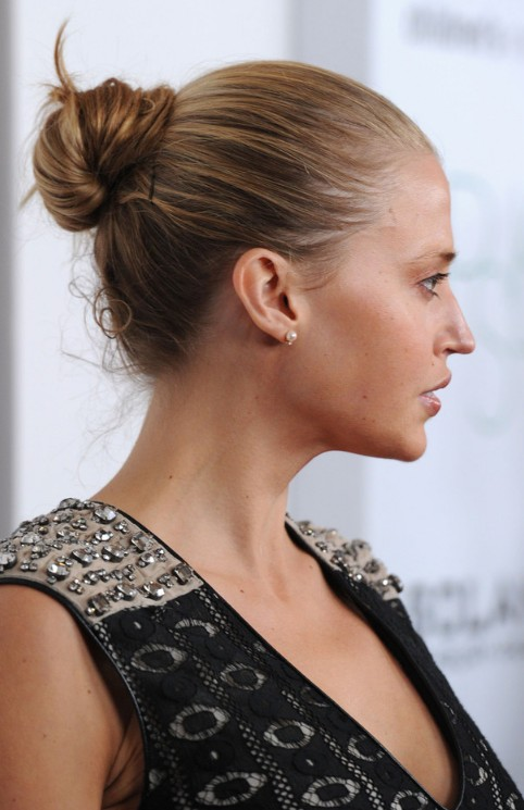 Simple Bun Updo Hairstyles 2013 - 2014