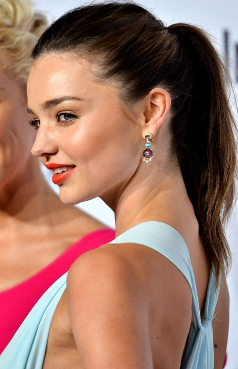 Simple Ponytail Hairstyle from Miranda Kerr