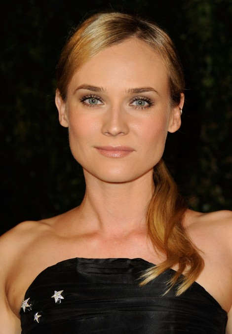 Sleek Side Ponytail Hairstyle from Diane Kruger