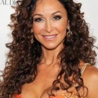 Sofia Milos Long Curly Hairstyles for Women Over 40s