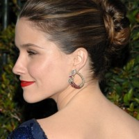 Sophia Bush Classic Bun Updo Hairstyles for Special Occasion