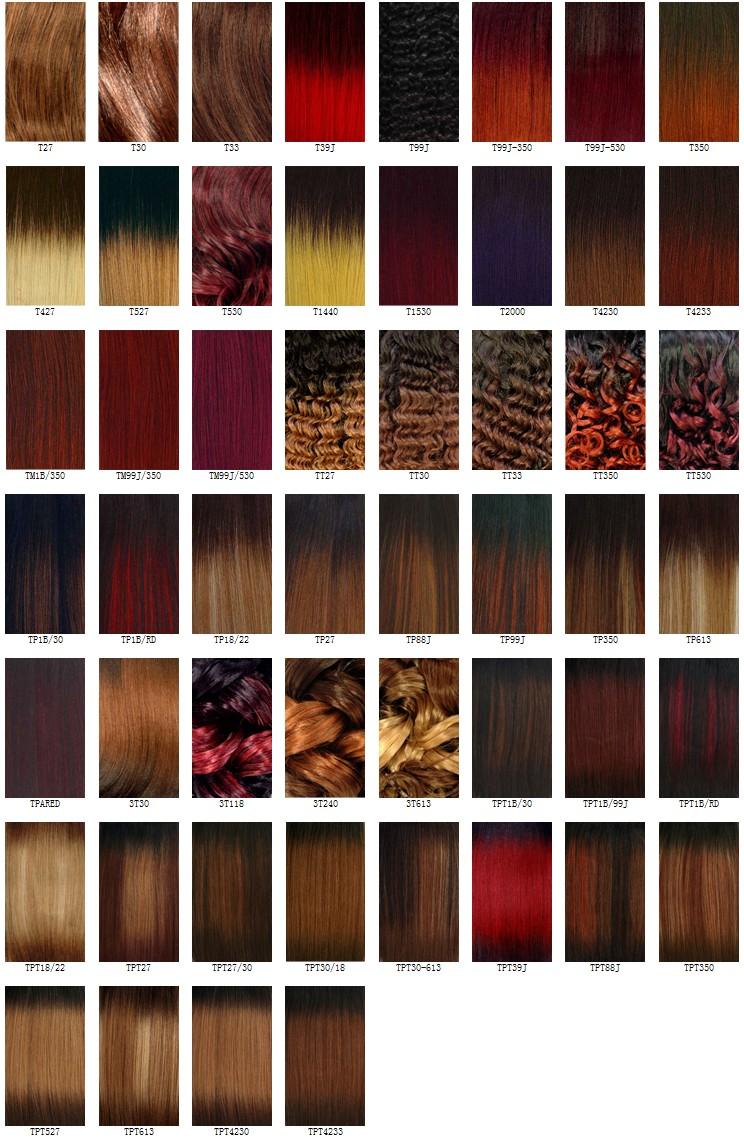 Hair Color Charts: T Mixed Color