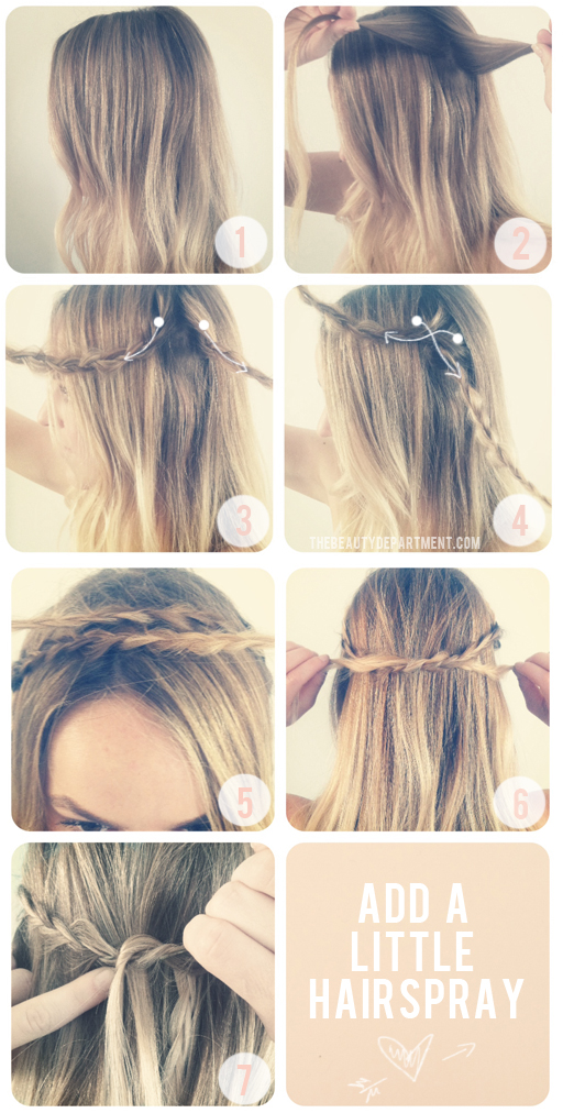 How to Create beautiful CROWN OF BRAIDS