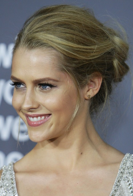 Teresa Palmer Loose Casual French Twist Updo 2013