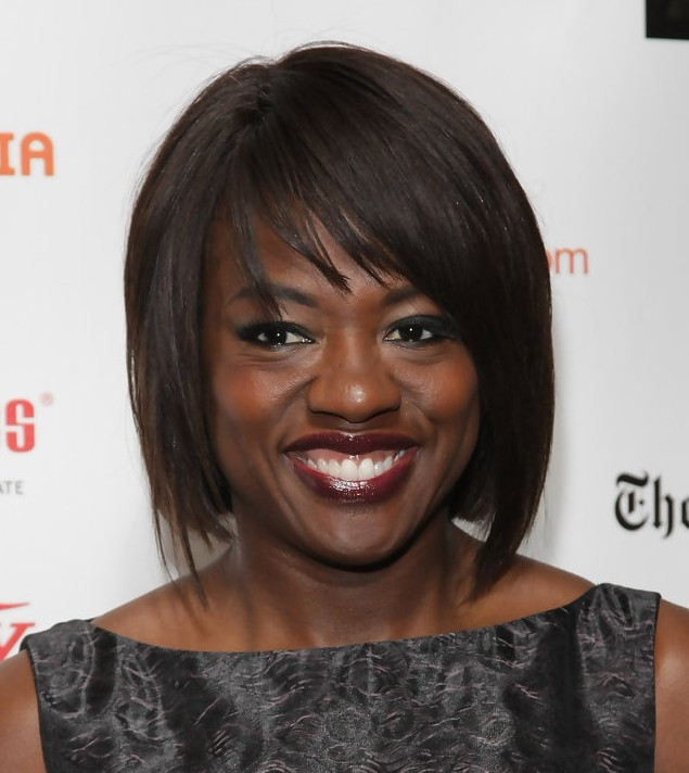 viola davis short bob hairstyle for african american ladies