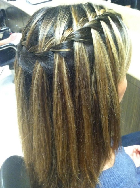 Waterfall Braid Hair Styles