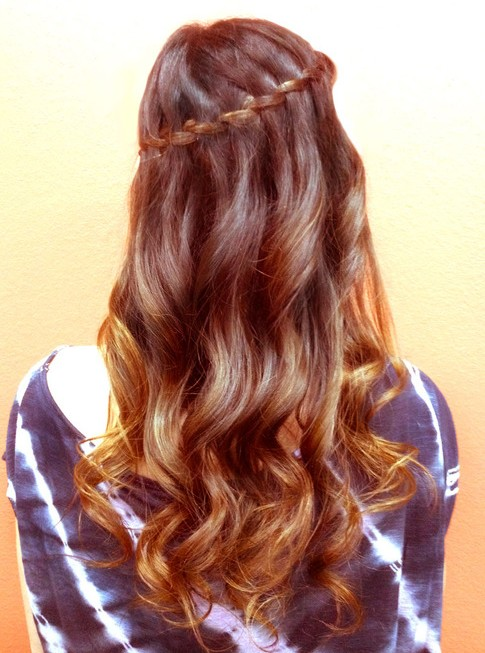 Waterfall Braid for Curly Hair