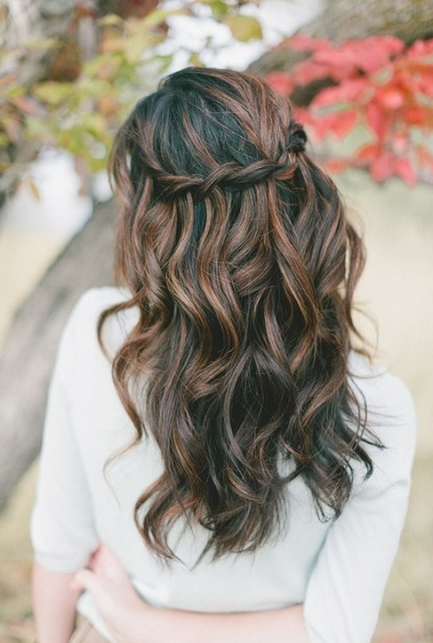 Waterfall Braid for Wavy Hair