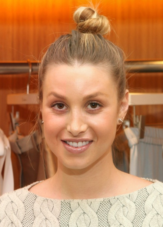 Whitney Port Casual Top Hair Knot 2013