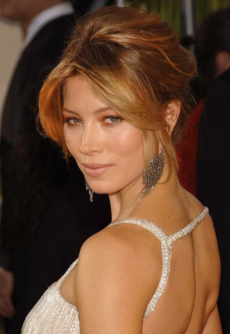 Formal Updo Hairstyles From Jessica Biel Hairstyles Weekly