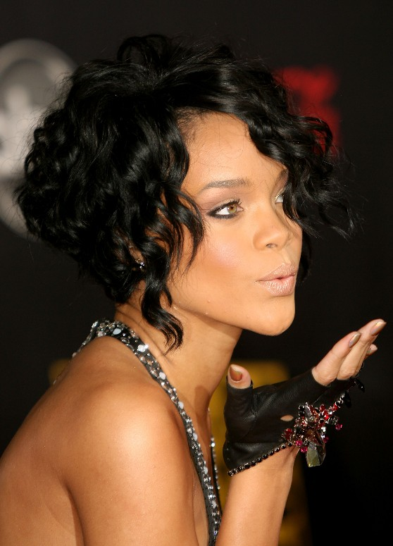 Celebrity curly stacked bob hairstyles