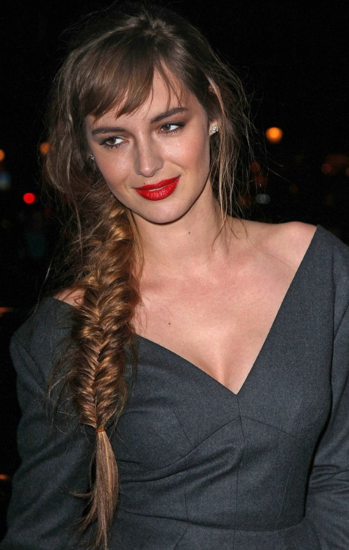 Long Side-Swept Fishbone Braid for Women