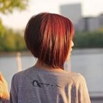 short red graduated bob haircut