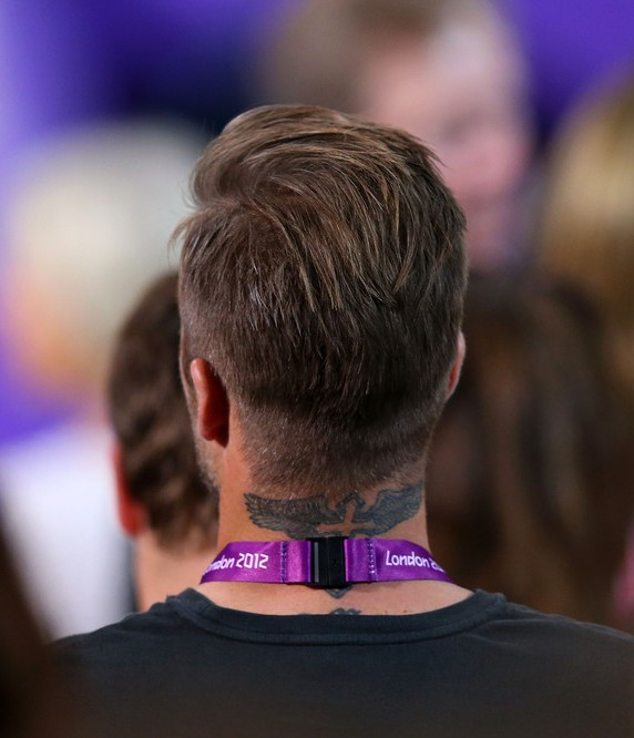 Back View of David Beckham Hairstyles 2012