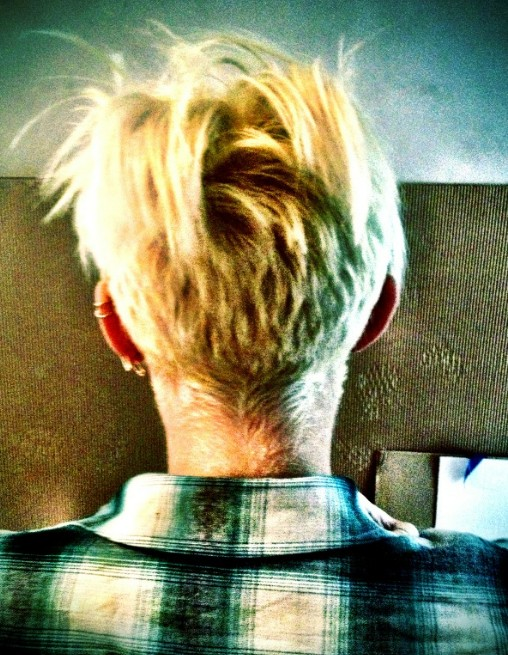 Back View of Miley Cyrus New Pixie Cut
