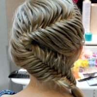 Stupendous Herringbone Or Fishtail French Braid For Long Black Hair Hairstyle Inspiration Daily Dogsangcom