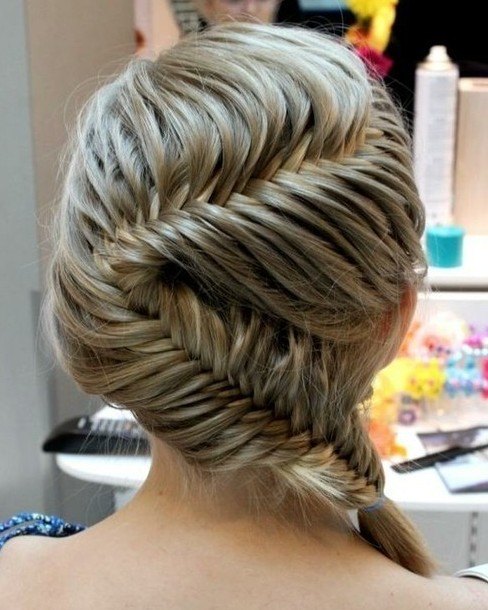 Beautiful French Fishtail Braid Hairstyle For Women