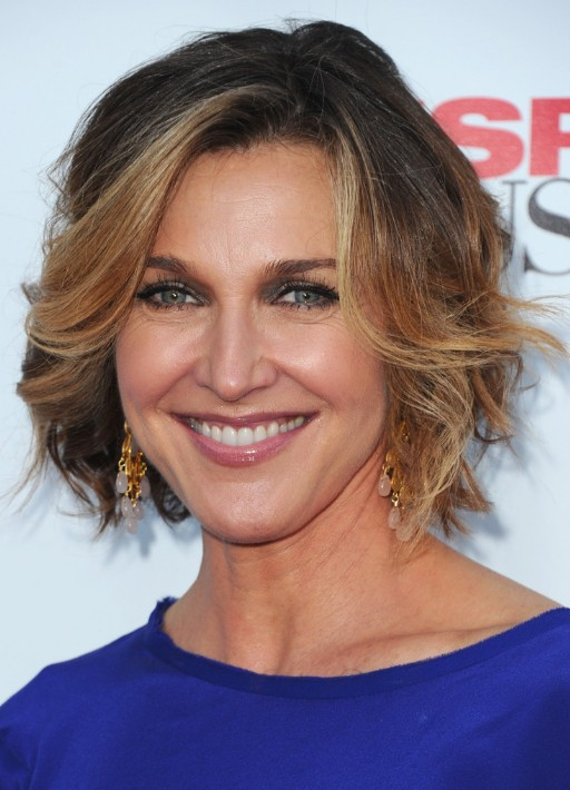Brenda Strong Short Ombre Bob Hairstyle for Women Over 50