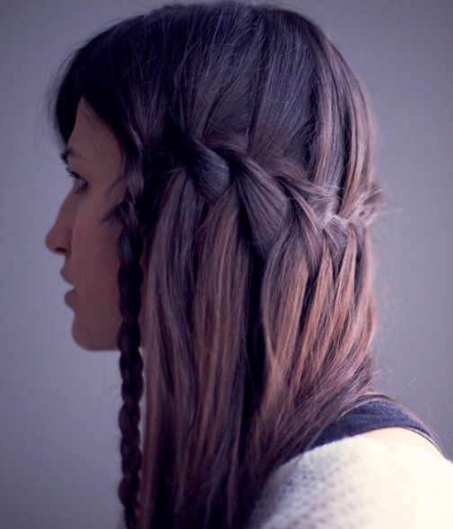 Cascade Waterfall Braid Hairstyles