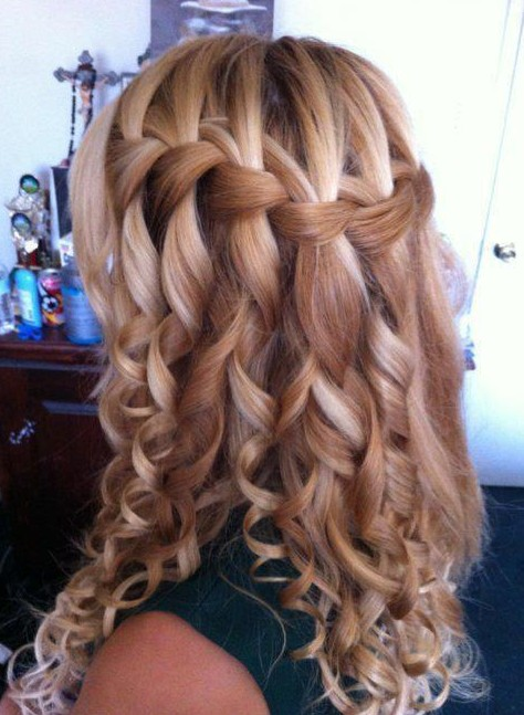 hair style water fall curly waterfall braid hairstyle 2013 hairstyles weekly 3839