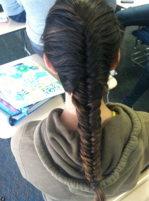2013 - 2014 Cute French Fishtail Braid for Long Hair