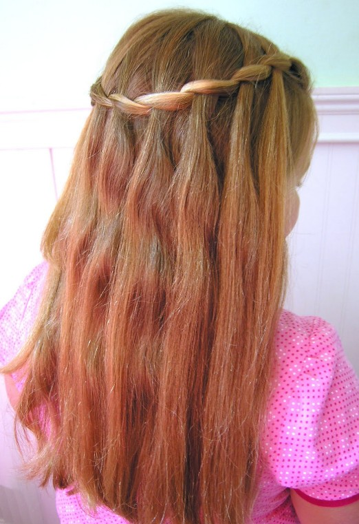 Cute Waterfall Braid Hairstyle For Girls Hairstyles Weekly