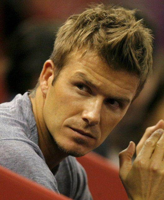 David Beckham Fauxhawk Haircut - Cool Spiky Hairstyle for Men