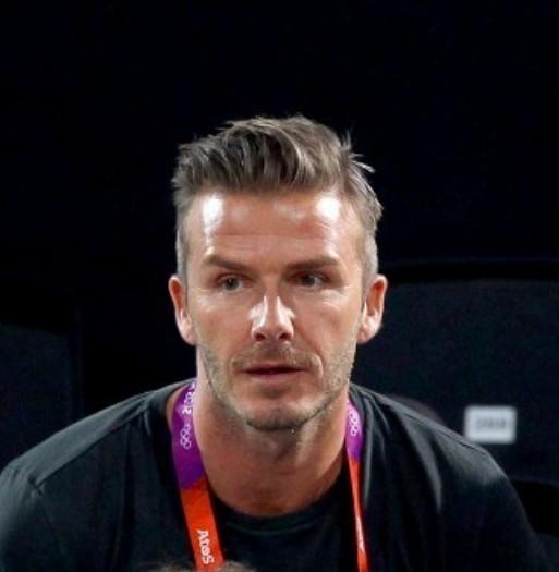 David Beckham Hairstyle London 2012 Olympic