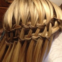 Double Waterfall Braid Hairstyles - Beautiful Cascade/Waterfall Braid