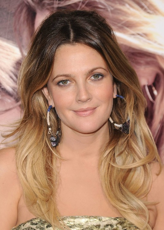Drew-Barrymore-Long-Ombre-Hair
