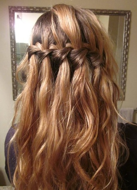 Outstanding Beautiful Cascade Waterfall Braid Hairstyles Gallery Hairstyles Hairstyle Inspiration Daily Dogsangcom