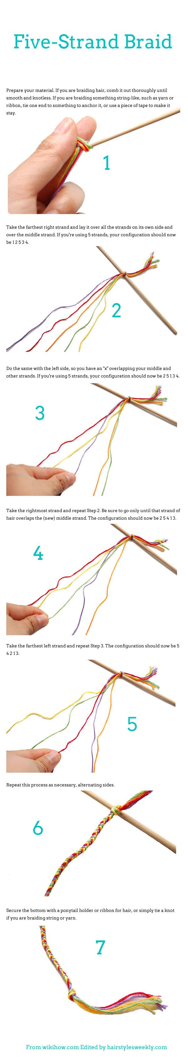 DIY: How To Braid Five Strand Braid Hairstyles - Hairstyles