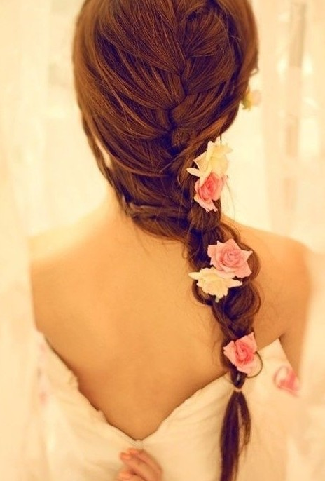 French Fishtail Braid for Wedding - A Romantic Wedding Hairstyle 2013