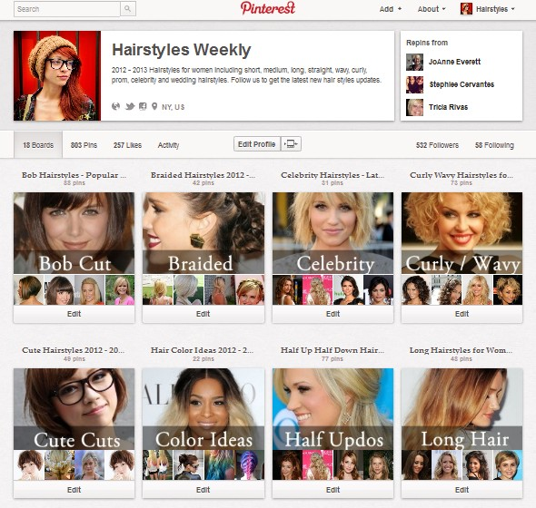 Hairstylesweekly pinterest