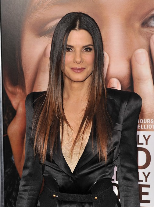 2014 Ombre Hair Trends: Sandra Bullock Ombre Hair