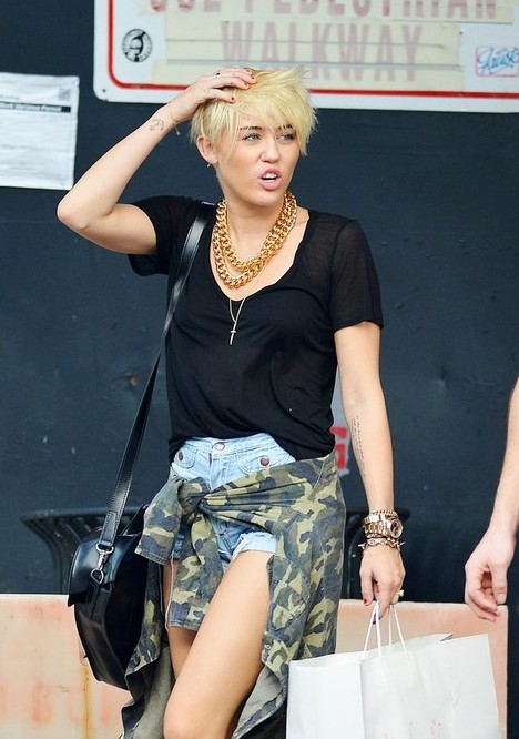 hairstylesweekly.com Miley Cyrus New Short Hairstyles