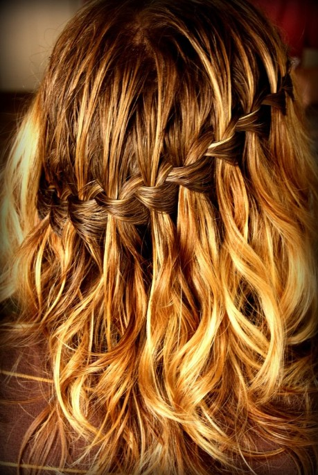 Sexy Waterfall Braid Hairstyle - Classic Cascade/Waterfall Braid