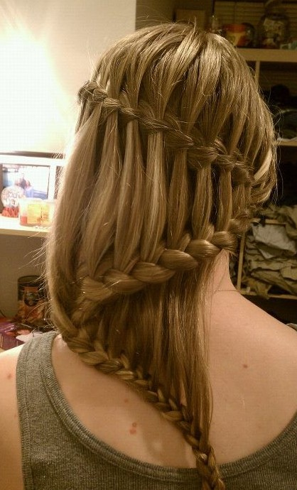 Stupendous Beautiful Cascade Waterfall Braid Hairstyles Gallery Hairstyles Short Hairstyles For Black Women Fulllsitofus