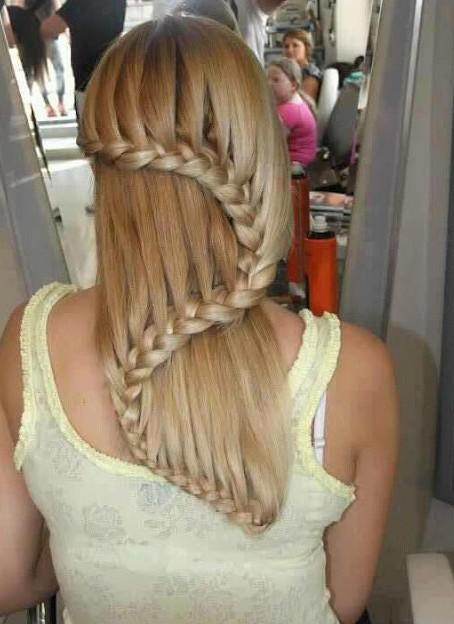 Awe Inspiring Beautiful Cascade Waterfall Braid Hairstyles Gallery Hairstyles Hairstyles For Men Maxibearus