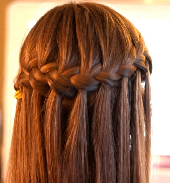 water fall hair styles beautiful cascade waterfall braid hairstyles gallery 5403