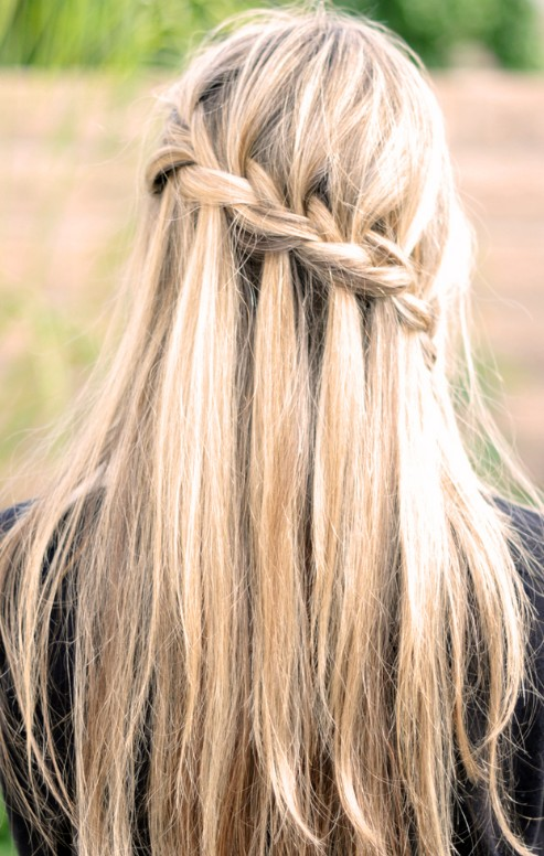 Waterfall Braid - Latest Popular Braided Hairstyles for Women