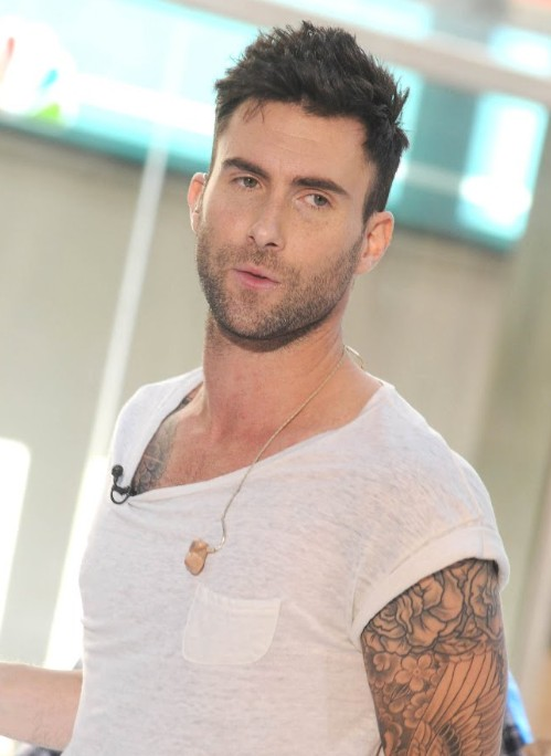 Adam Levine with Cool Tattoos
