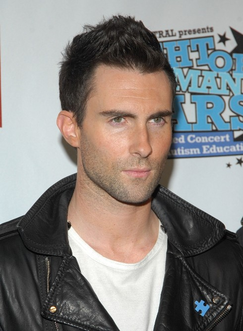 Adam Levine FauxHawk Haircut: Short Haircut for Men
