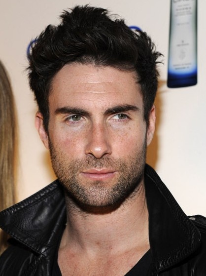 Adam Levine Messy Hairstyle for Men 2013