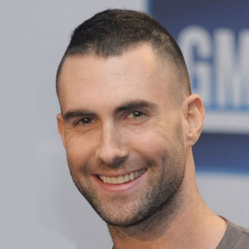 Adam Levine Short Crew Cut Very Short Haircut For Men Hairstyles