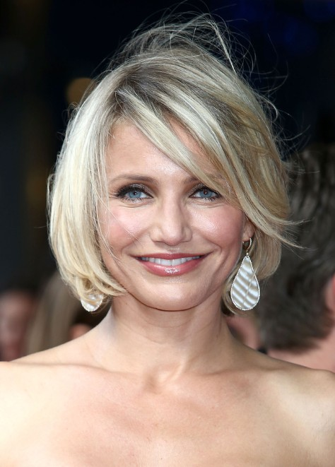 Cameron Diaz Bob Hairstyles for Women Over 40s