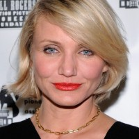 Short Hairstyles 2013: Cameron Diaz Short Haircut with Bangs