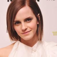 Emma Watson Cute Short Straight Hair Style 2015